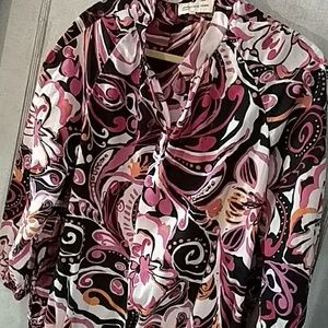 Jones New York Sport Abstract Floral Blous…